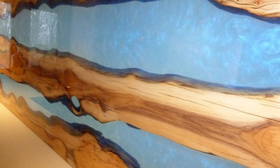 Yew Tree and Resin Headboard