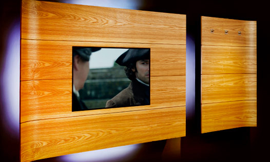 Ash Media Unit. Bespoke, handmade furniture, by Mounts Hill Woodcraft.