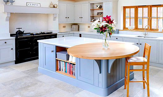 Biddenden | A bespoke, handmade, hand-painted, traditional shaker kitchen, designed and installed by Mounts Hill. (Taylor made, bespoke kitchens, fitted in Kent, Sussex & Greater London).