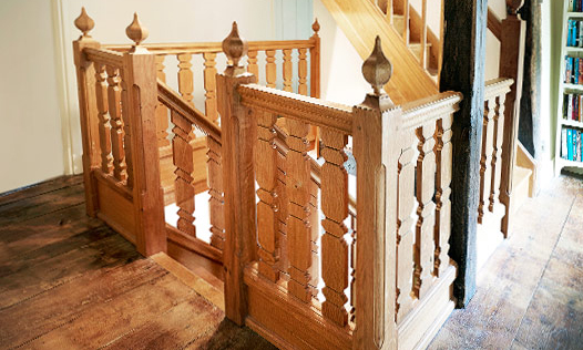 Gothic Staircase. Custom made, hand-crafted joinery, by Mounts Hill Woodcraft.