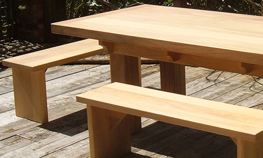 Iroko Table. Bespoke, handmade furniture, by Mounts Hill.