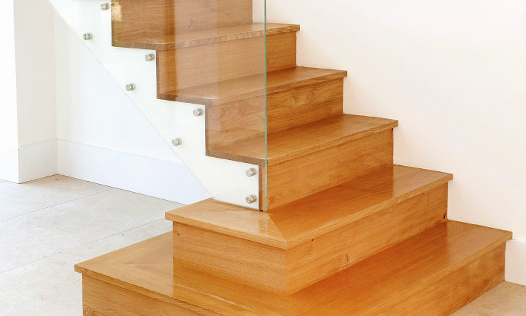 Modern Staircase. Custom made, hand-crafted joinery, by Mounts Hill Woodcraft.