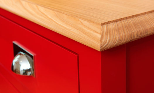 Scarlet Dresser. Bespoke, handmade furniture, by Mounts Hill Woodcraft.
