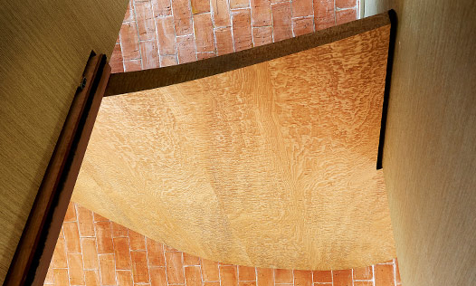 Verity's Ceiling, the Grand Designs eco-arch house. Custom made, hand-crafted joinery, by Mounts Hill.